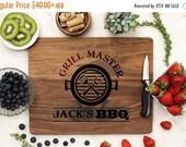 SALE Personalized Cutting Board, Custom Cutting Board, Engraved Cutting Board, Father's Day BBQ Chef Housewarming Walnut Wood --21088-CUTB-0