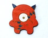 Early the Timid Monster - Painted Wood Laser-Cut Magnet -