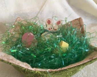 Reversible Soup Bowl Cozy Microwave Bowl Hot Pad Spring Easter Gift Basket