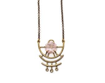 Dreamweaver Necklace // Rose Quartz