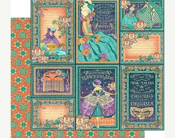 NOW ON SALE Graphic 45 Midnight Masqerade Music Makers Scrapbook Paper