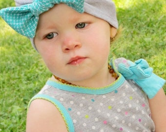 SALE Beanie Pattern Pattern Tutorial Knit BOW Turban Hat 3 months through ladies Instant