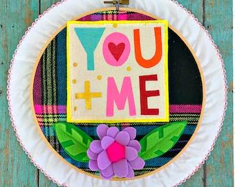 You + Me Valentine Hoop (white)