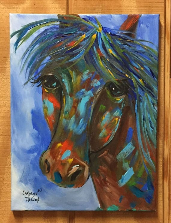 Colorful Horse Original Painting | Abstract Horse Painting
