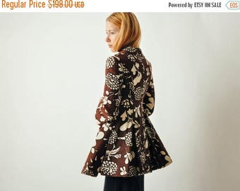 ON SALE Vintage Floral Mod Full Skirt Coat
