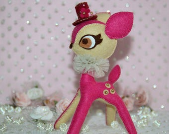 Living in a Fantasy Land - Luxurious Stylish Bambi - Hot Pink-Beige - Xmas Special Price