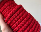 YARD SALE 10mm red braided rope. For DIY rope crafts and other rope projects.