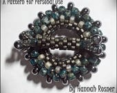 JUST UPDATED! Bead tutorial Peyote Stitch Seed Bead Toggle Clasp instructions peyote stitch pattern - Hannah Rosner