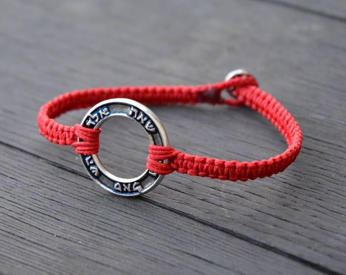 72 Names of God Red Woven Kabbalah Bracelet for Men