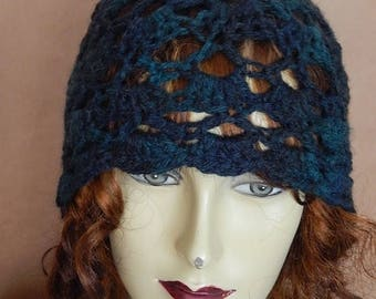 CLEARANCE - Green hat, lacy hat, winter wear, women accessory