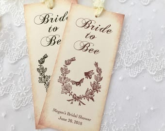 Bride to Bee Bookmarks Honey Bridal Shower Favors, Bee Bridal Favors, Set of 10