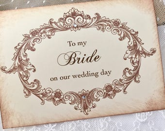 To my Bride Card, To my Bride on our Wedding Day Card, Bride Wedding Card