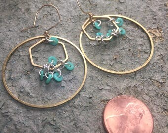 Turquoise Loop Tangle
