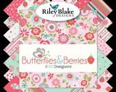 SALE Butterflies & Berries by RBD Designs Complete Fat Quarter Bundle 21 Pcs