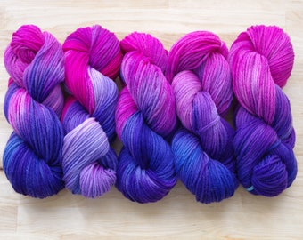 Hand Dyed Yarn - worsted weight - approx. 220 yds