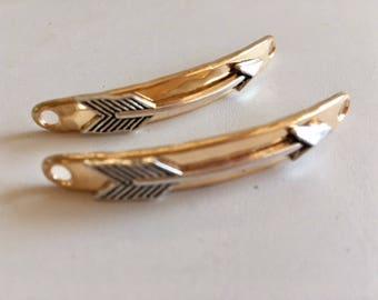 Bracelet Connector-Silver Arrow Charm-Jewelry Findings