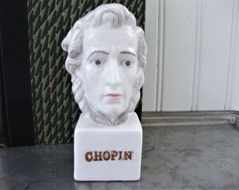 vintage chopin bust miniature composer figurine