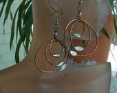 Statement Copper and Solder Earrings
