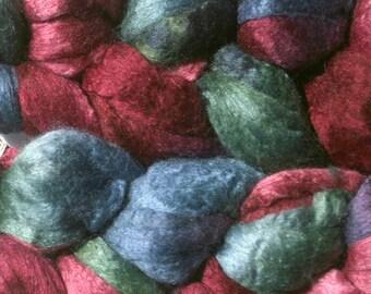 Merino/Silk Spinning Fiber - Hubris - Hand Dyed Roving for Spinning and Felting
