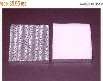 Summer Sale 10 Pack Silver Foil 3.5 X 3.5 X 1 Inch  Size Cotton Filled Jewelry Presentation Gift Boxes