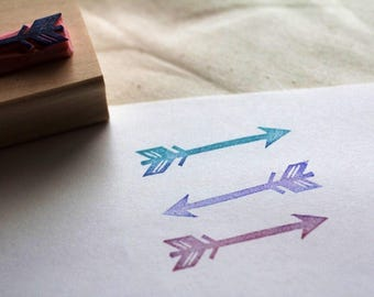 Arrow rubber stamp // hand carved and hand crafted