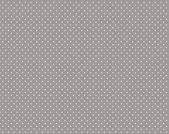 Riley Blake Designs, White Swiss Dot on Gray  (C670 40)