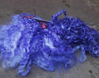 Purple Wensleydale Hand Dyed Locks