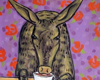 20 % off storewide Aardvark at the Coffee Shop Art Tile