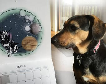 Wall Calendar 2018, The Year of the Dog, Space Journey