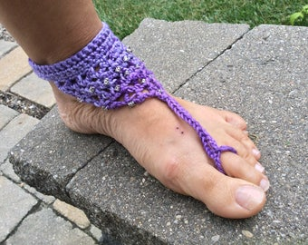Barefoot in the Garden Sandals PDF Download Crochet Pattern