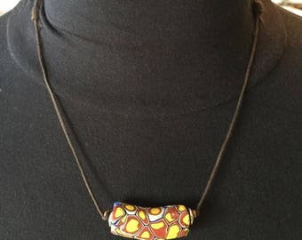 OnSale African Trade Bead Ready to Wear on Cord #1