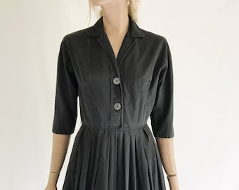 Vintage 50's Black Day Dress