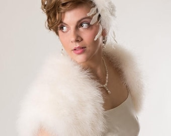 Promo Sale: Luxurious Bridal Marabou Shrug/ 3 colors available