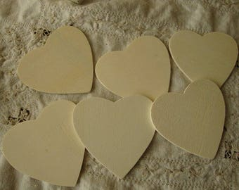 """Wood hearts cut outs 2""""1/2 unfinished wooden heart DIY Rustic wedding party favor supplies embellishments heart ornament wood kids crafts"""