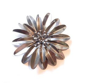 Old Steel Dahlia Flower Stamping Dimensional Decorative Stamping