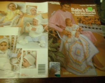 Baby Afghan Knit and Crochet Patterns Baby's Best to Knit and Crochet Leisure Arts 191 Crocheting and Knitting Pattern Leaflet