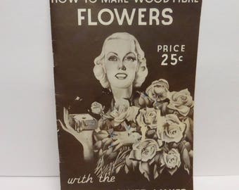 Vintage Craft Book How To Make Wood Fibre Flowers