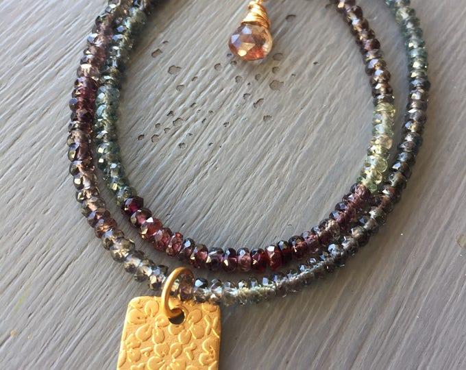 Featured listing image: Sapphire Wrap Bracelet Color Change Sapphire Bracelet