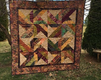 Fall Batil Table Topper or  Little Quilt