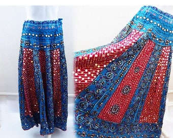 Vintage Gypsy Skirt One size Festival Ethnic Tribal Hippie Boho India BellyDance