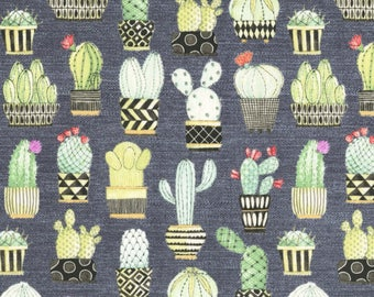 Cactus Hoedown Grey - Lovely Llamas - Michael Miller Fabrics CX7298-GRY 100% Quilters Cotton Available in Fat Quarter, Half Yard, Yard
