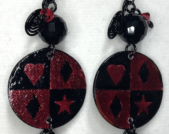 Harley Quinn Dangle Earrings