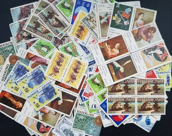 FIRE SALE! Hundred (100) 10 cent vintage unused postage stamps. Face value 10.00, selling for 85% including shipping