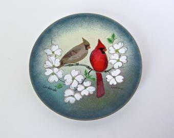 Margret Ratcliff Cardinals, Enamel Bird Series, The Bird Barn, Highlands, NC 1960s