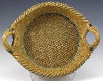 Hand Thrown, Stoneware, Pottery, Open Casserole, Baker, Ash Glaze, John Bauman