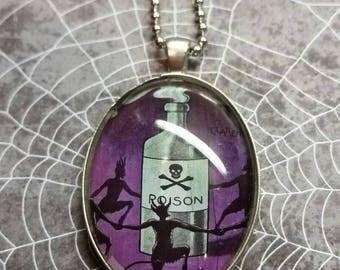 Vintage Poison Pendant necklace