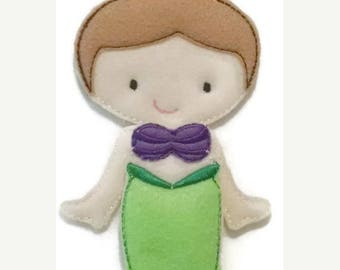 SALE Ava Grace doll plusMermaid felt set , Quiet Game, felt gamel, travel toy,  Felt Favor, Children's Toy #1522