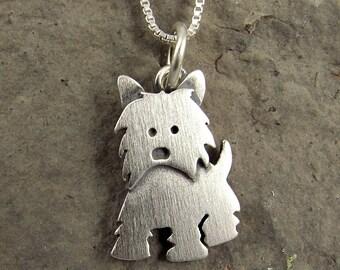 Tiny Westie necklace / pendant