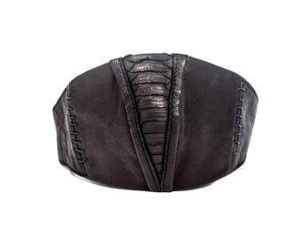 BLACK ROCK DEFENSE Face Mask in Black Leather