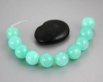 Green Hemimorphite Beads - 14mm - Hemimorphite Beads - Rounds